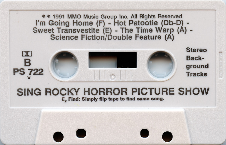 "Pocket Songs You Sing The Hits ""The Rocky Horror Picture Show"" Cassette (Side B)"