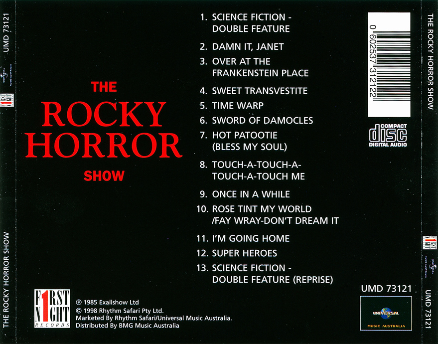 Rockymusic Rocky Horror Show 1973 London Cast Cd