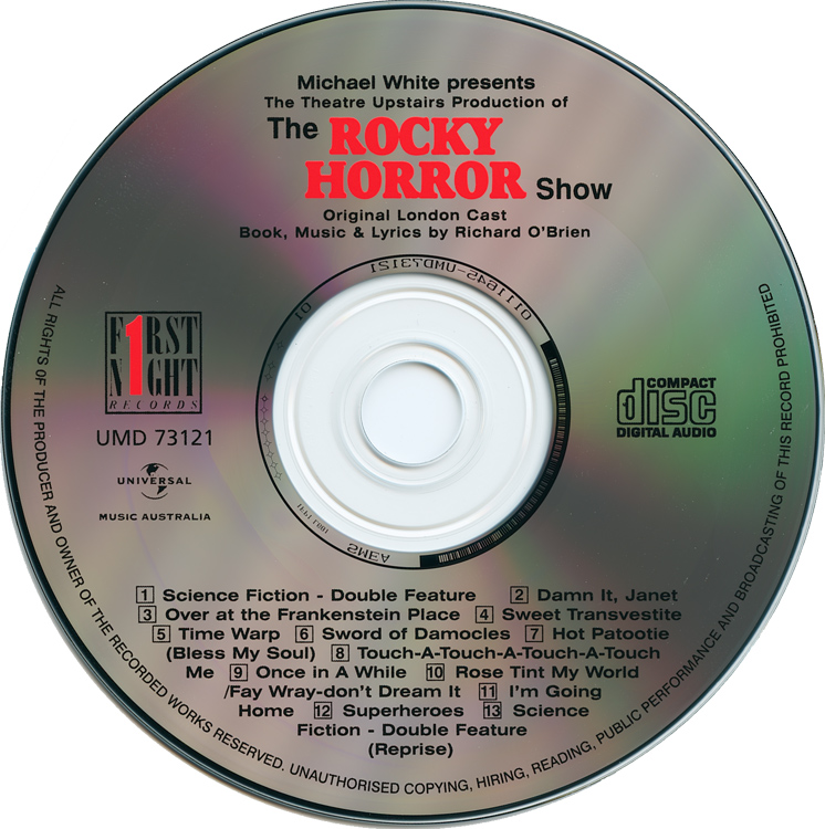 Rocky Horror Show, 1973 London Cast CD, Universal 25th Anniversary Edition (Compact Disc)