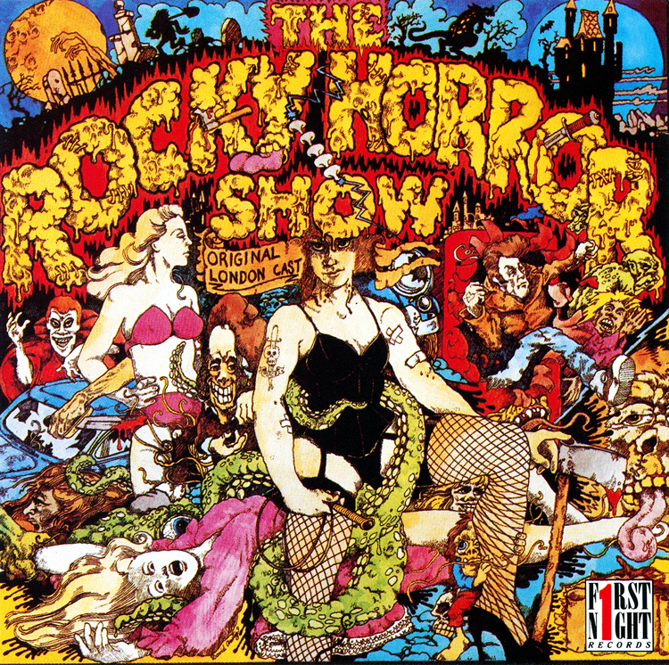 Rocky Horror Show, 1973 London Cast CD, First Night Records (Front Cover)