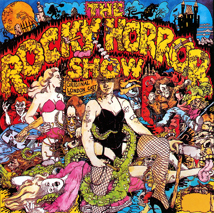 Rocky Horror Show, 1973 London Cast CD, Rhino Records (Front Cover)