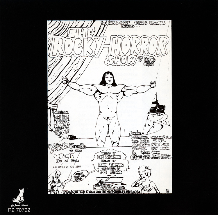 Rocky Horror Show, 1973 London Cast CD, Rhino Records (Liner Notes Back)