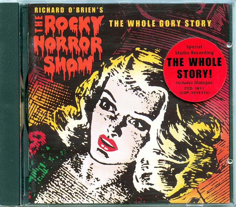 Rocky Horror Show, 1990 London Cast CD, Chrysalis Records (Case With Sticker)