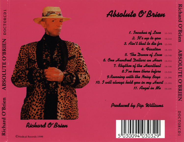 Absolute O'Brien CD, Medical Records (Back Cover)