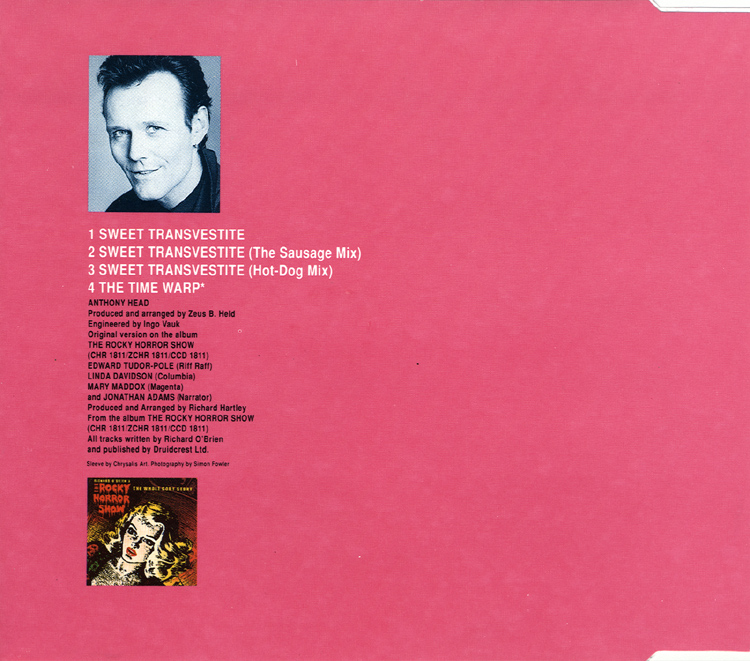 "Anthony Head ""Sweet Transvestite"" CD Single (Liner Notes Back)"