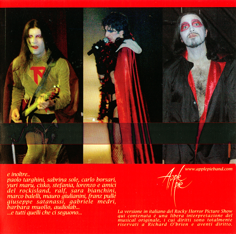 "Apple Pie ""Non sognarlo Puoi Esserlo (tratto dal Rocky Horror Picture Show)"" CD (Liner Notes Part 2)"