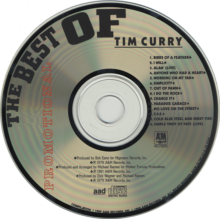 Best Of Tim Curry CD (Compact Disc)