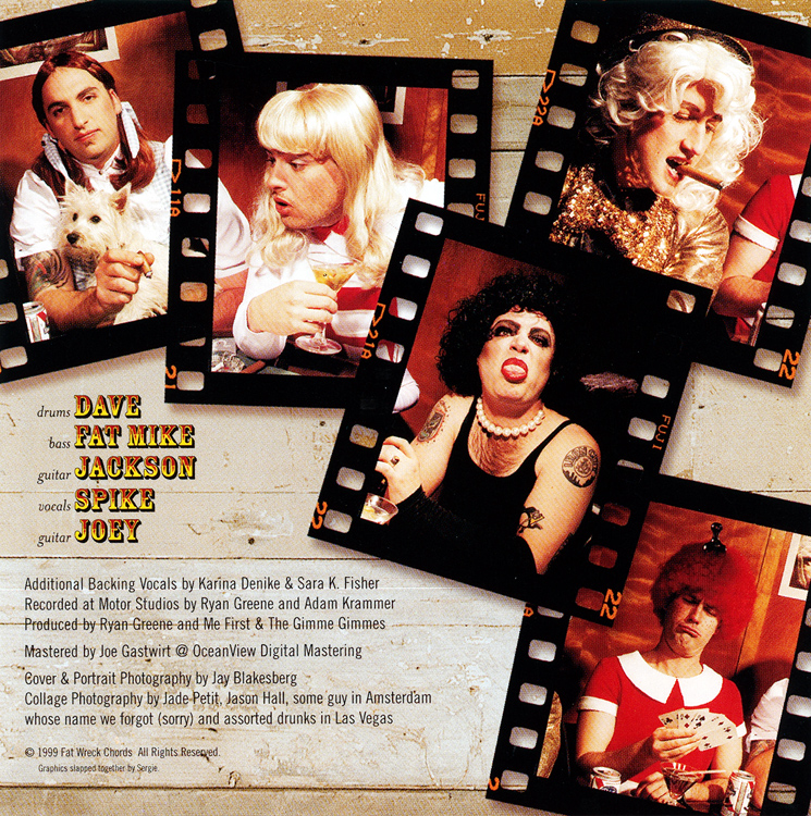 "Me First And The Gimme Gimmes ""Are a Drag"" CD (Liner Notes Back)"