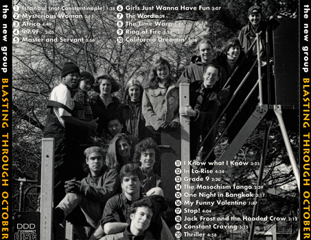 "New Group ""Blasting Through October"" CD (Back Cover)"