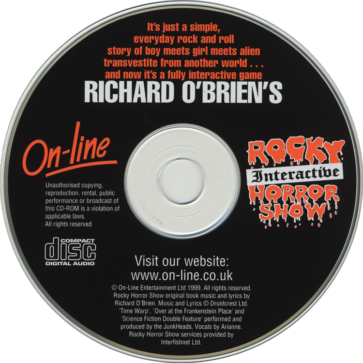 Rocky Interactive Horror Show CD-ROM (Disc)