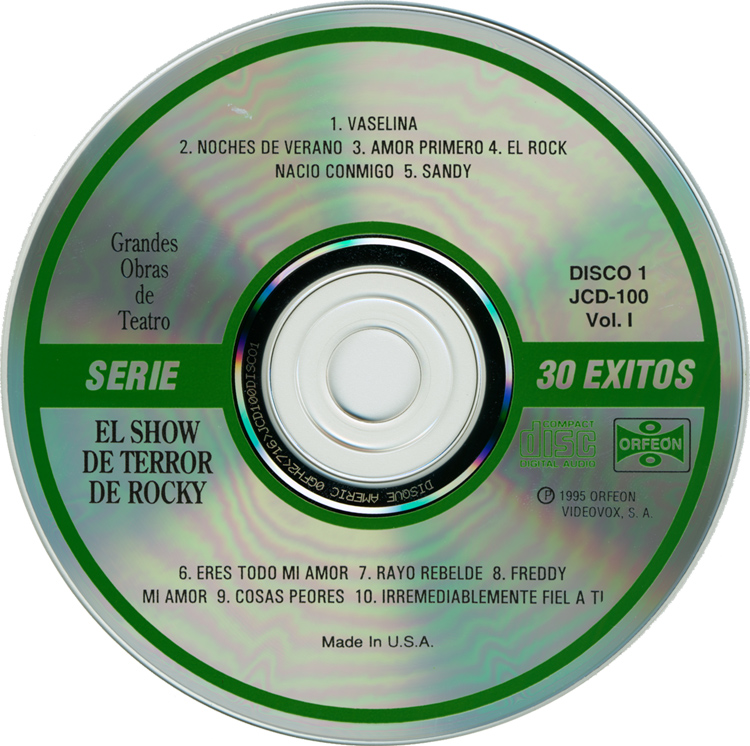 El Show De Terror De Rocky, 1976 Mexican Cast Two-CD Set (Compact Disc One)