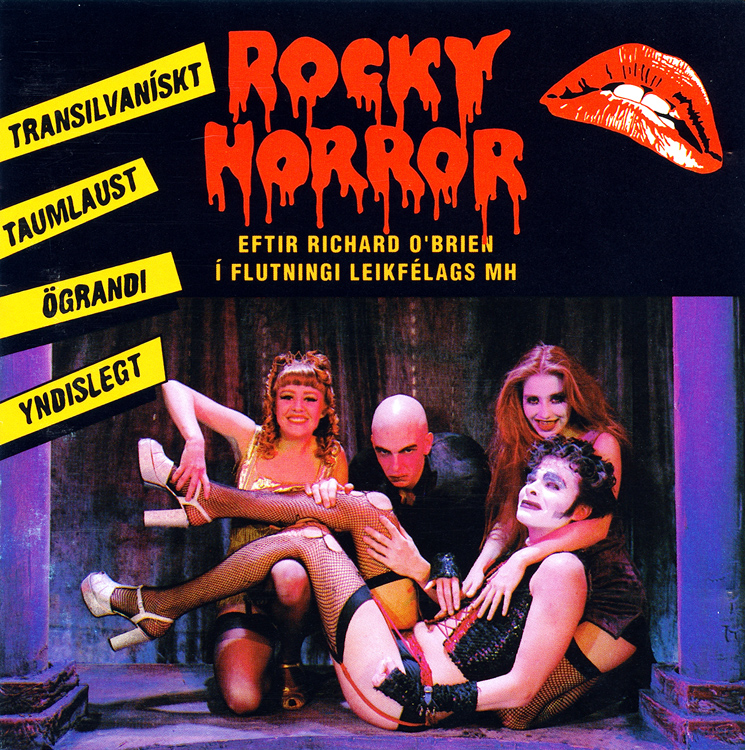 Rocky Horror Show, 1991 Icelandic Cast CD (Front Cover)