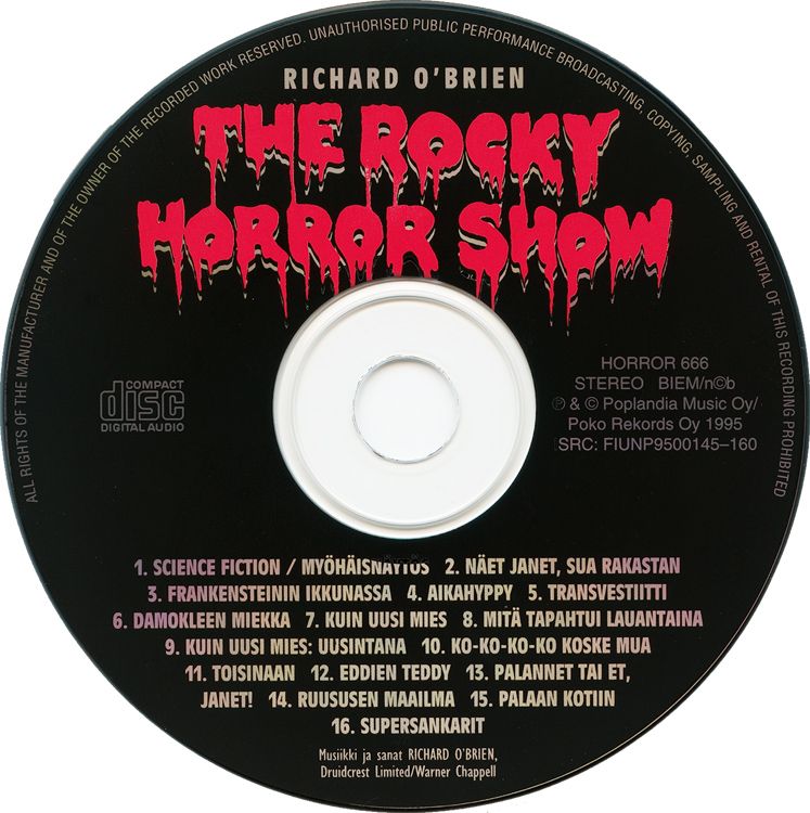 Rocky Horror Show, 1995 Finnish Cast CD (Compact Disc)