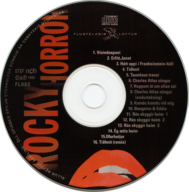 Rocky Horror Show, 1995 Icelandic Cast CD (Compact Disc)
