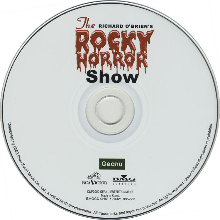 Rocky Horror Show, 2001 Korean Cast CD (Compact Disc)