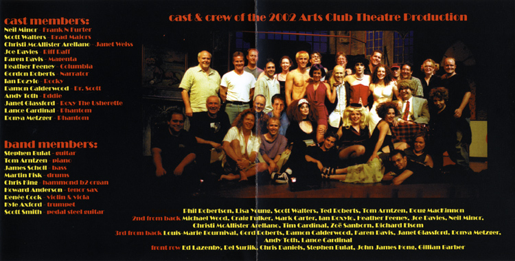 Rocky Horror Show, 2005 Vancouver Cast CD (Liner Notes Part 3)