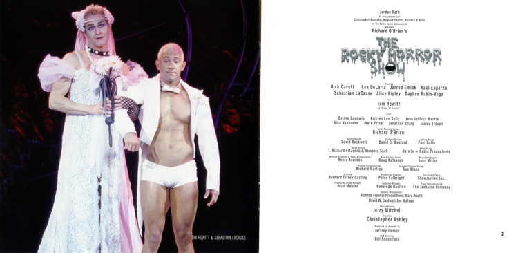 Rocky Horror Show, 2001 Broadway Cast CD (Liner Notes Part 1)