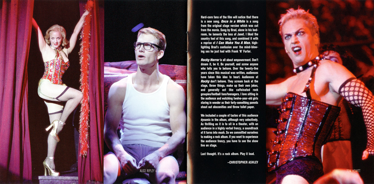 Rocky Horror Show, 2001 Broadway Cast CD (Liner Notes Part 6)