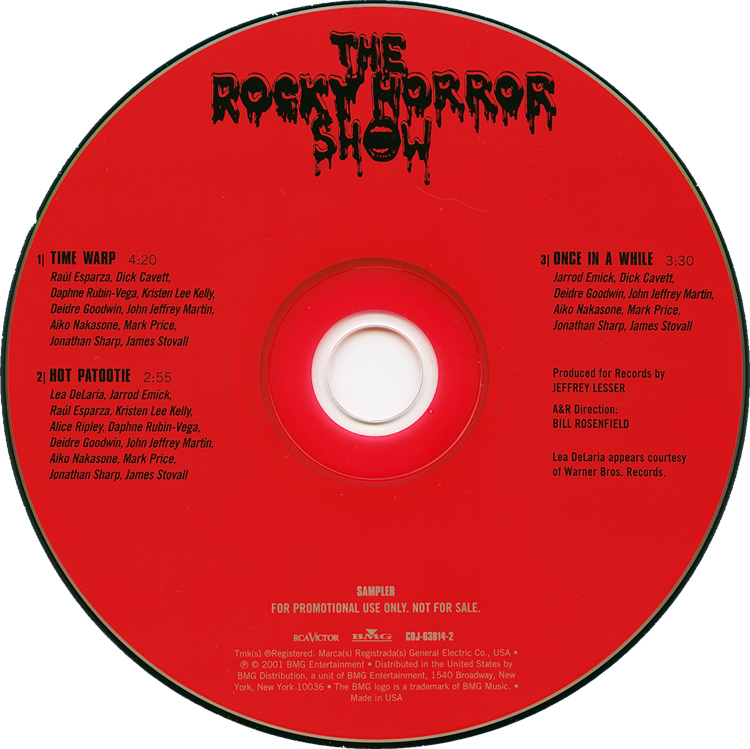 Rocky Horror Show, 2001 Broadway Cast CD Single (Compact Disc)