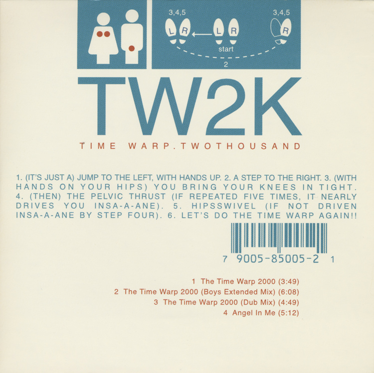 TW2K: Time Warp Two Thousand CD (Front Cover)