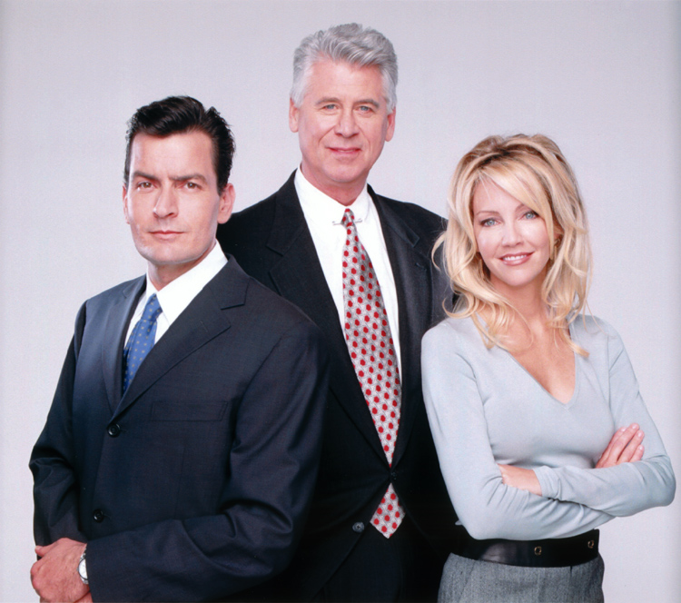 Barry Bostwick (Spin City Season Five Group Shot)