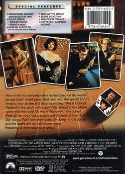 Clue (DVD Back Cover)