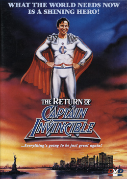 Return of Captain Invincible (DVD Front Cover)
