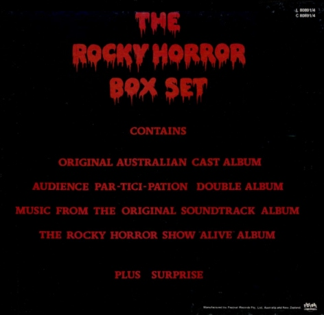 Rocky Horror Australian Box Set (Back Cover)