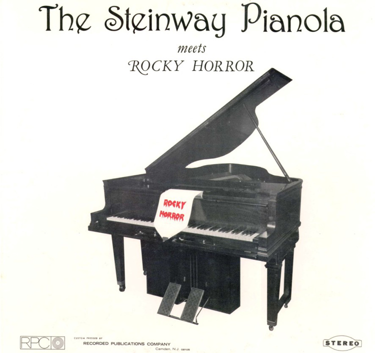 The Steinway Pianola Meets Rocky Horror LP (Front Cover)