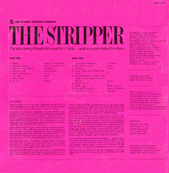 The Stripper LP (Back Cover)