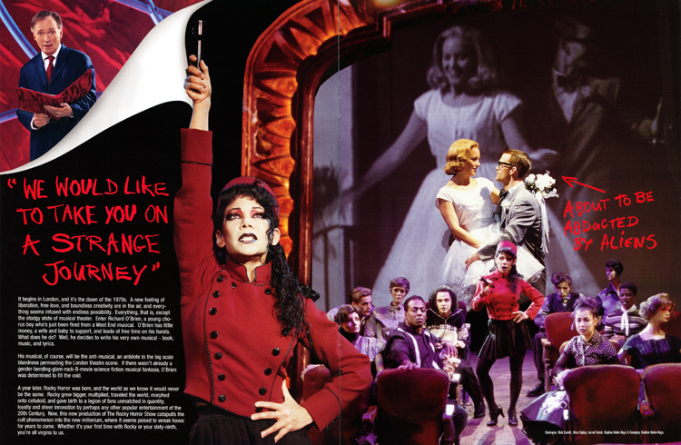 Rocky Horror Show, 2001 Broadway Cast Program (Contents Page 03-04)