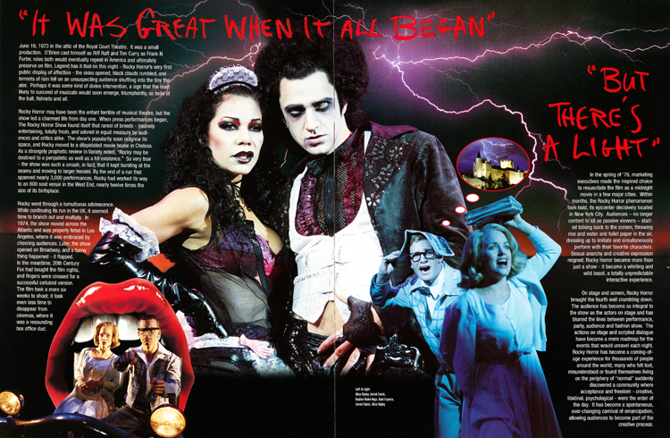 Rocky Horror Show, 2001 Broadway Cast Program (Contents Page 05-06)