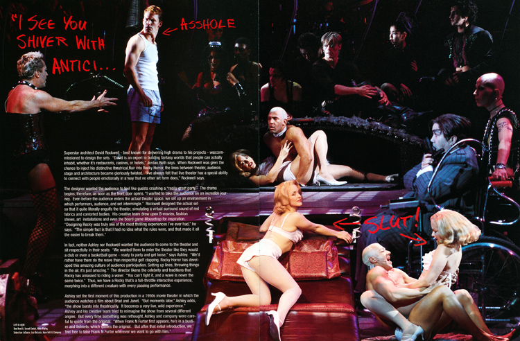 Rocky Horror Show, 2001 Broadway Cast Program (Contents Page 15-16)