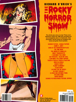Rocky Horror Show Vocal Selections Book & Sing-Along CD (Back Cover)