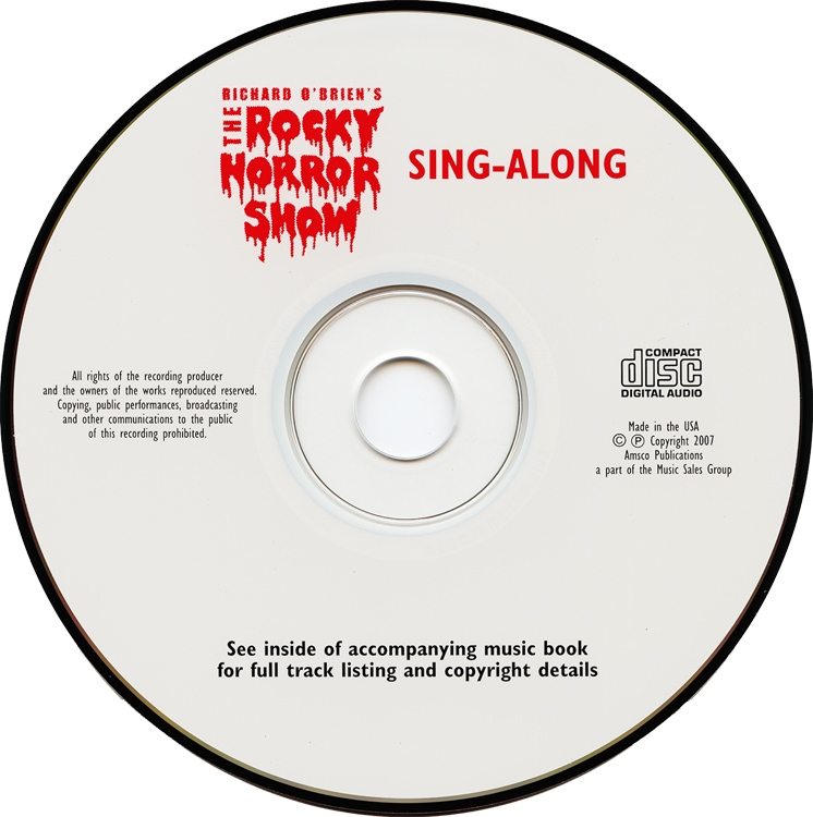 Rocky Horror Show Vocal Selections Book & Sing-Along CD (Compact Disc)