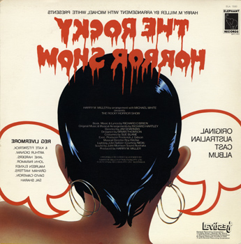 Rocky Horror Show, 1974 Australian Cast LP, Elephant Records (Back Cover)