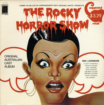 Rocky Horror Show, 1974 Australian Cast LP, Elephant Records (Front Cover)