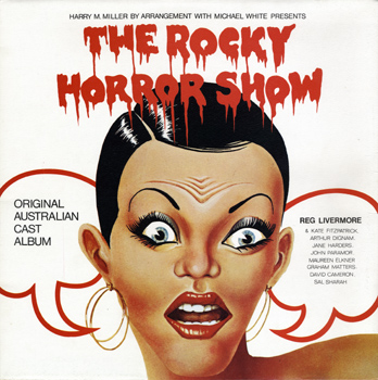 Rocky Horror Show, 1974 Australian Cast LP, Festival Records (Front Cover)
