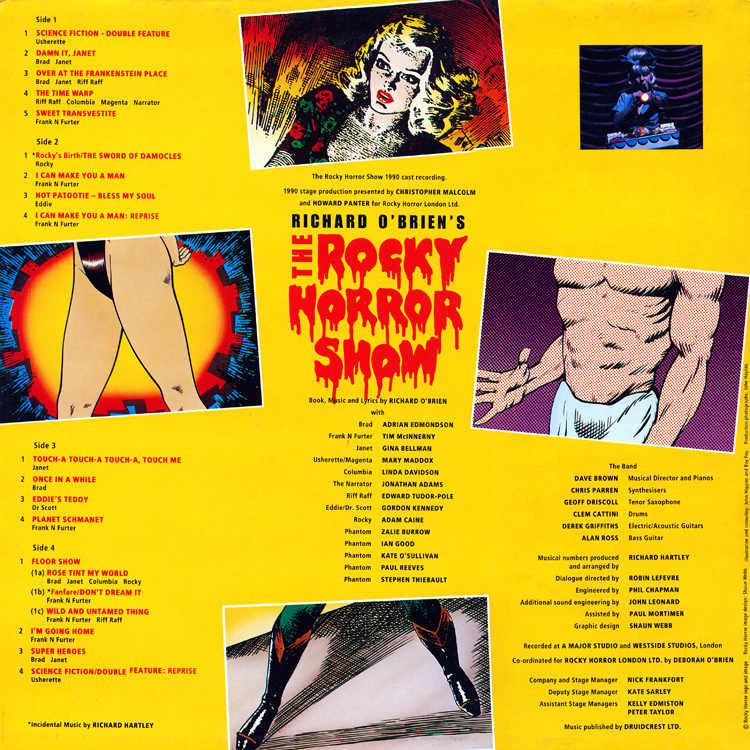 Rocky Horror Show, 1990 London Cast Double LP (Gatefold, Left Side)