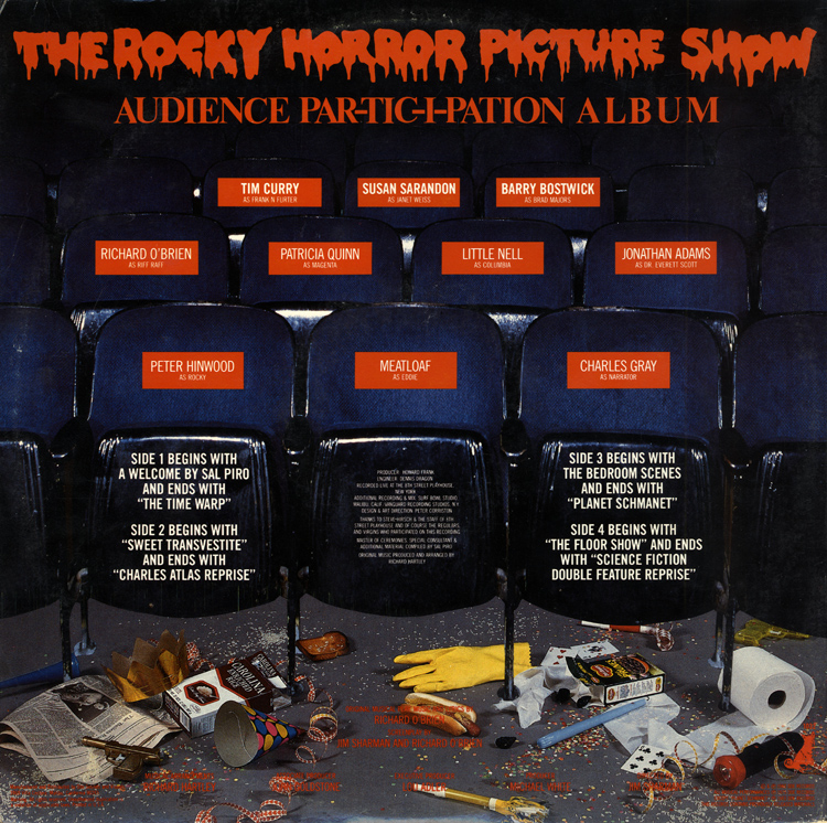 Rocky Horror Picture Show Audience Par-tic-i-pation Album LP (Back Cover)