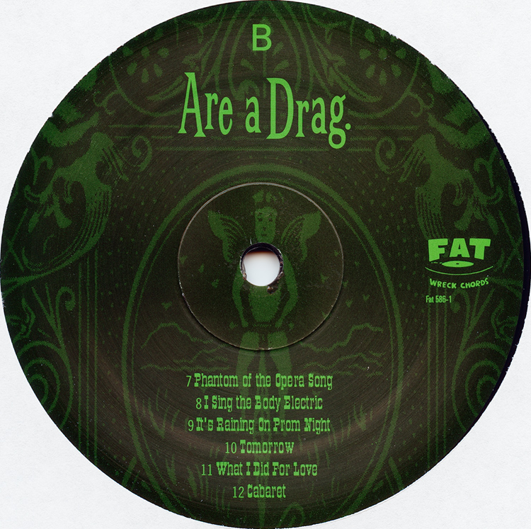 "Me First And The Gimme Gimmes ""Are a Drag"" LP (Disc Label Side Two)"