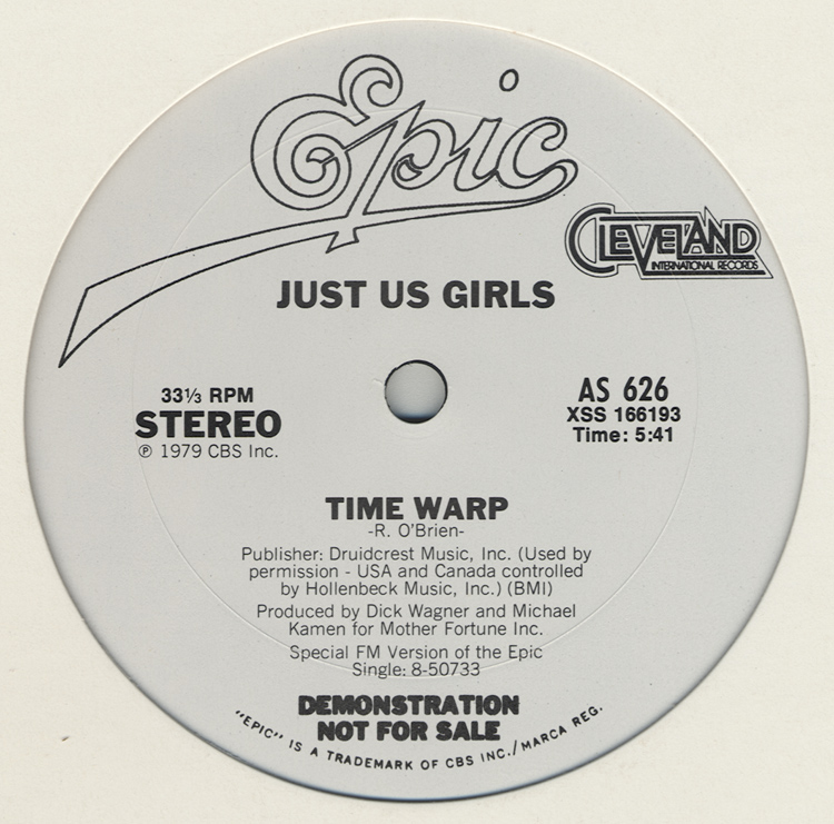 "Just Us Girls ""Time Warp"" 12"" Single (Disc Label Side One)"