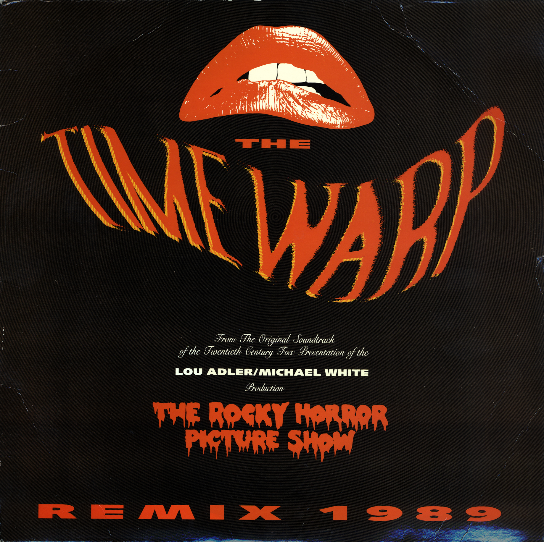 """Time Warp Remix 1989 12"""" Single (Front Cover"""