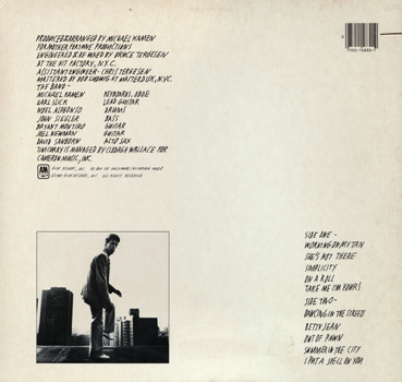 "Tim Curry ""Simplicity"" LP (Back Cover)"