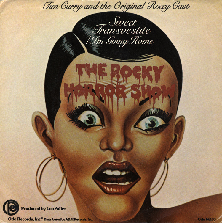 "Rocky Horror Show, 1974 Roxy Cast 7"" Single (Front Cover)"