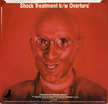 "Shock Treatment Soundtrack 7"" Single (Back Cover)"