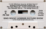 "Pocket Songs You Sing The Hits ""The Rocky Horror Picture Show"" Cassette (Side A)"