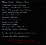 Mephistopheles Smith Cloven Hooves Tour 2007 CD-R Single (Liner Notes Back)