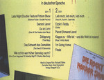 Die Rocky Horror Show, 1980 Essen Germany Cast CD-R (Back Cover)