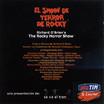 El Show De Terror De Rocky, 2001 Peruvian Cast CD (Liner Notes Back)